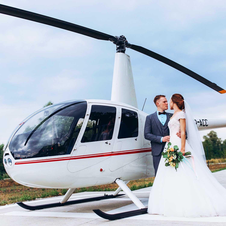 Noleggio elicottero per matrimonio