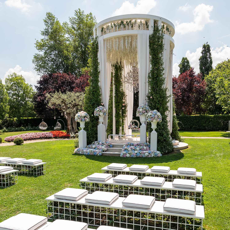 Matrimonio stile americano Campania allestimento floreale