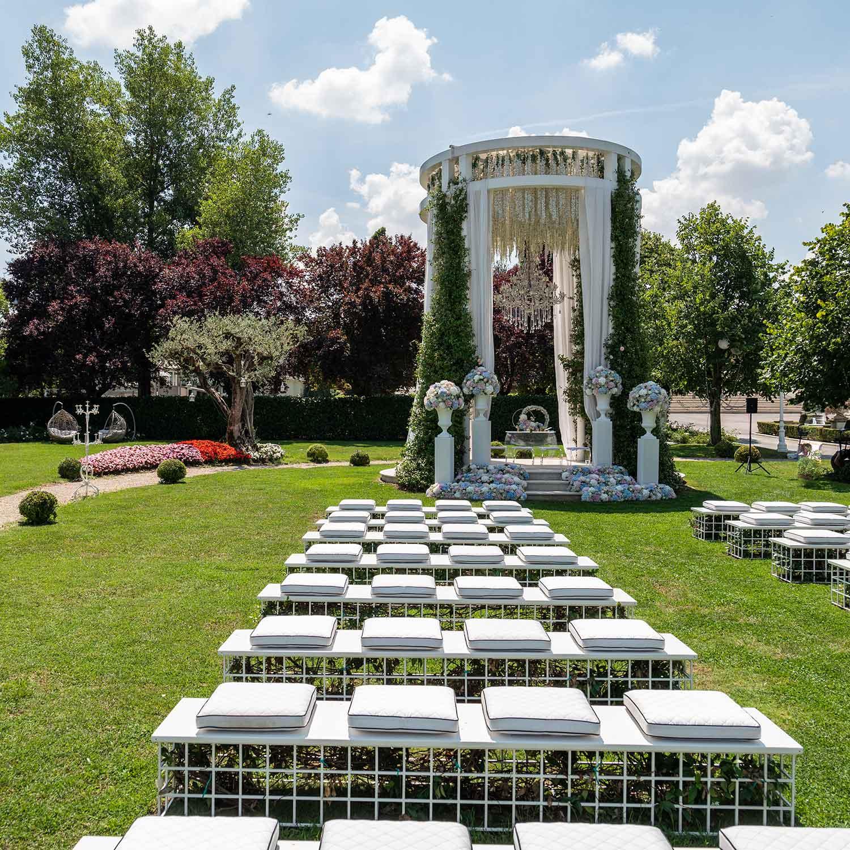 Matrimonio stile americano Campania matrimonio in giardino