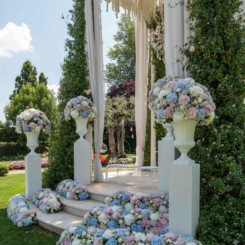 Matrimonio stile americano Campania peonie