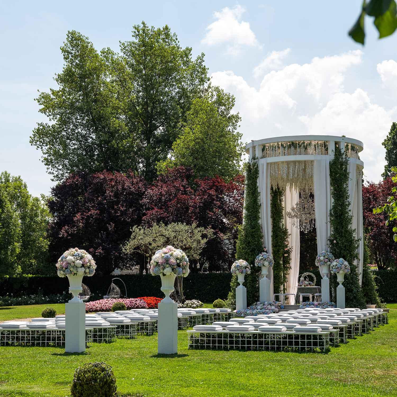 Matrimonio stile americano Campania scenografia