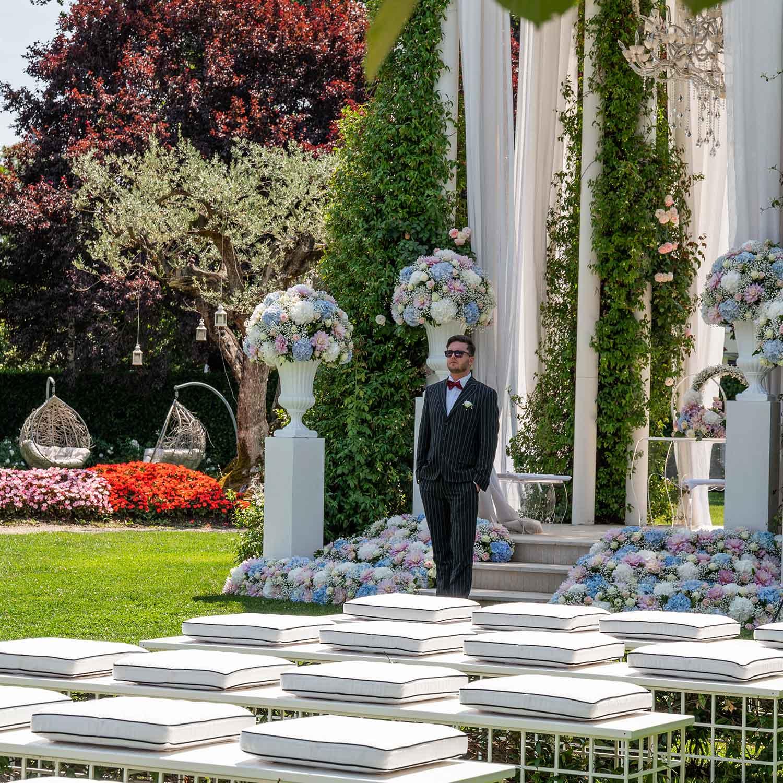 Matrimonio stile americano Campania sposo